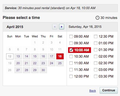 Select start time - Southtown K9